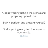 Prophetic word: God is working on some things for you!