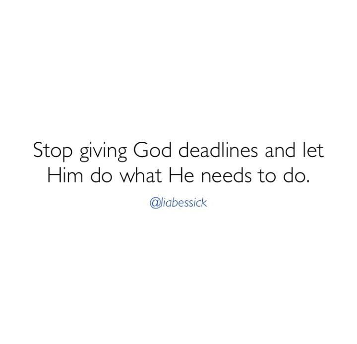 Let God work!